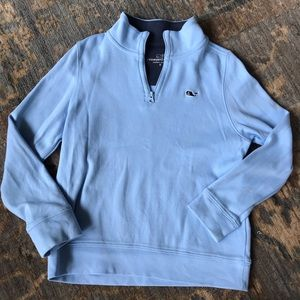 Vineyard Vines boys light blue sweater Size 5